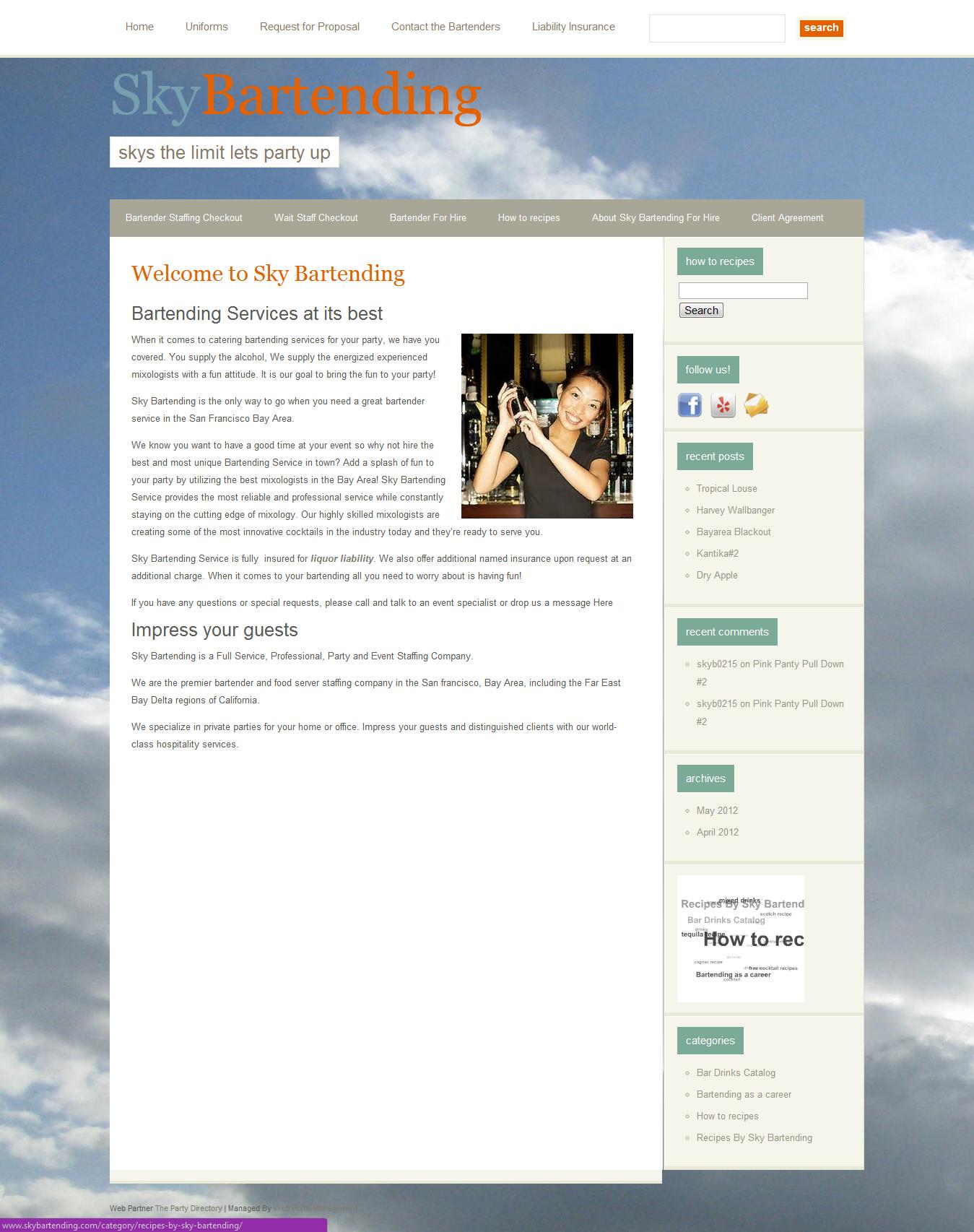 Our Site: Sky Bartending