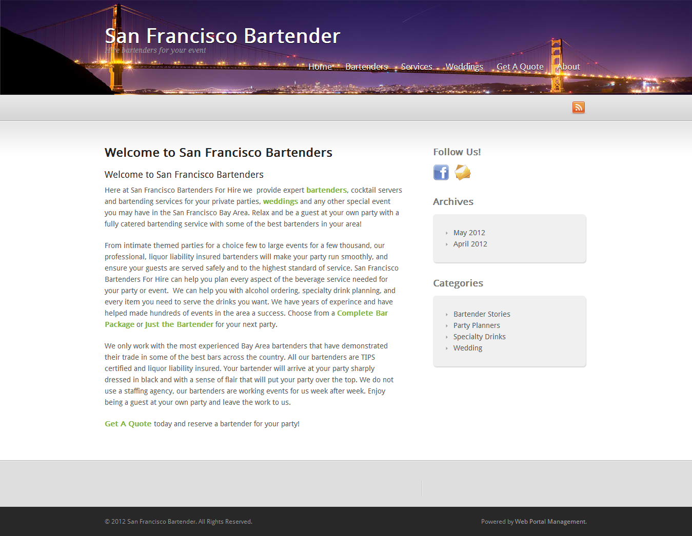Our Site S.F. Bartenders